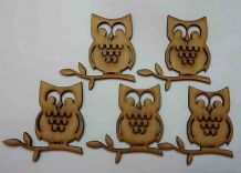 wooden craft OWL shapes, laser cut 3mm mdf embellishment, decoupage,
